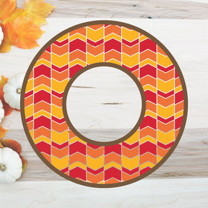 Freebie Friday | Fall Monogram Cut File with Arrow Background | SVG DXF PNG