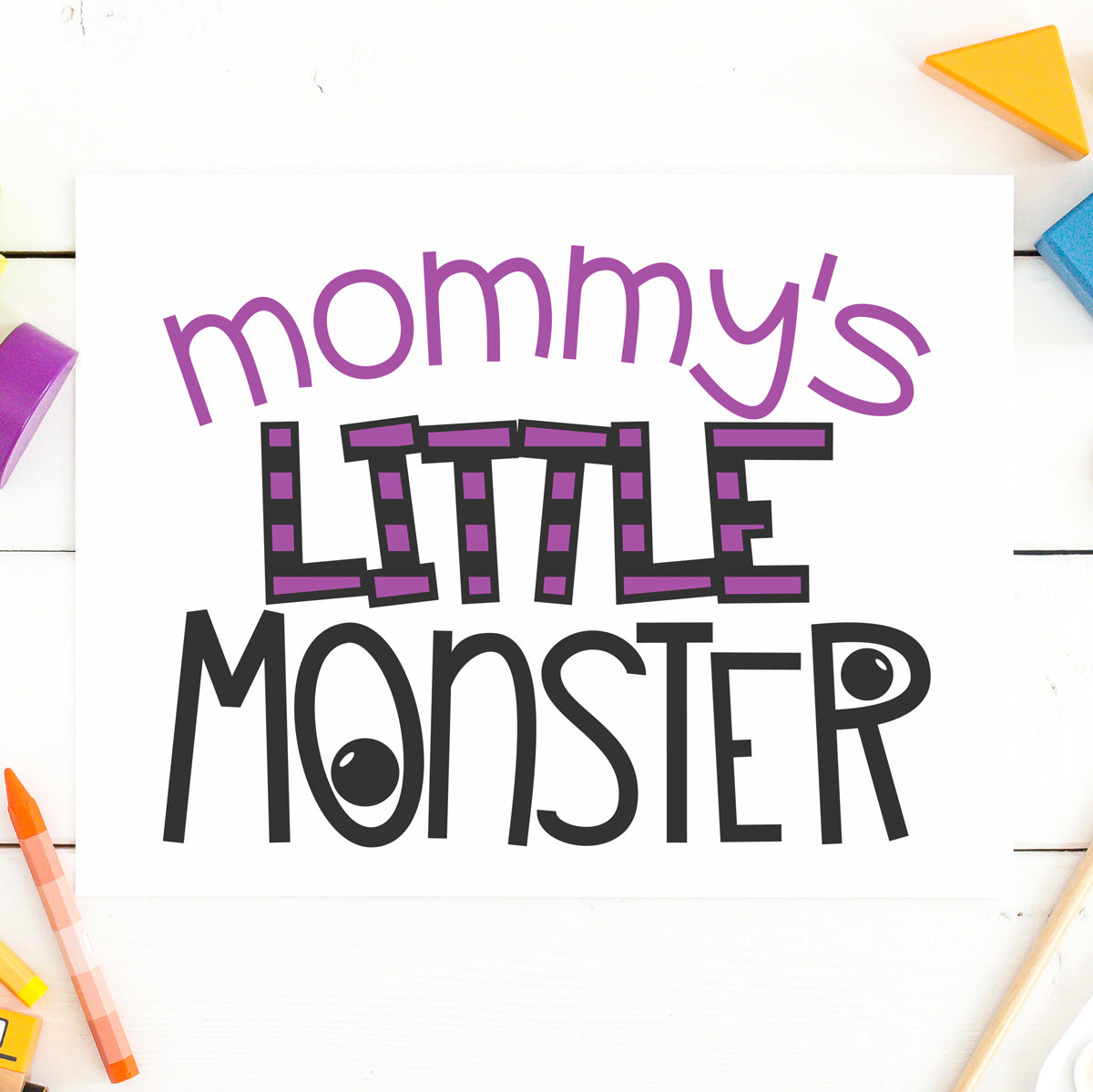 Freebie Friday | Mommy's Little Monster | SVG DXF EPS PNG Cut Files