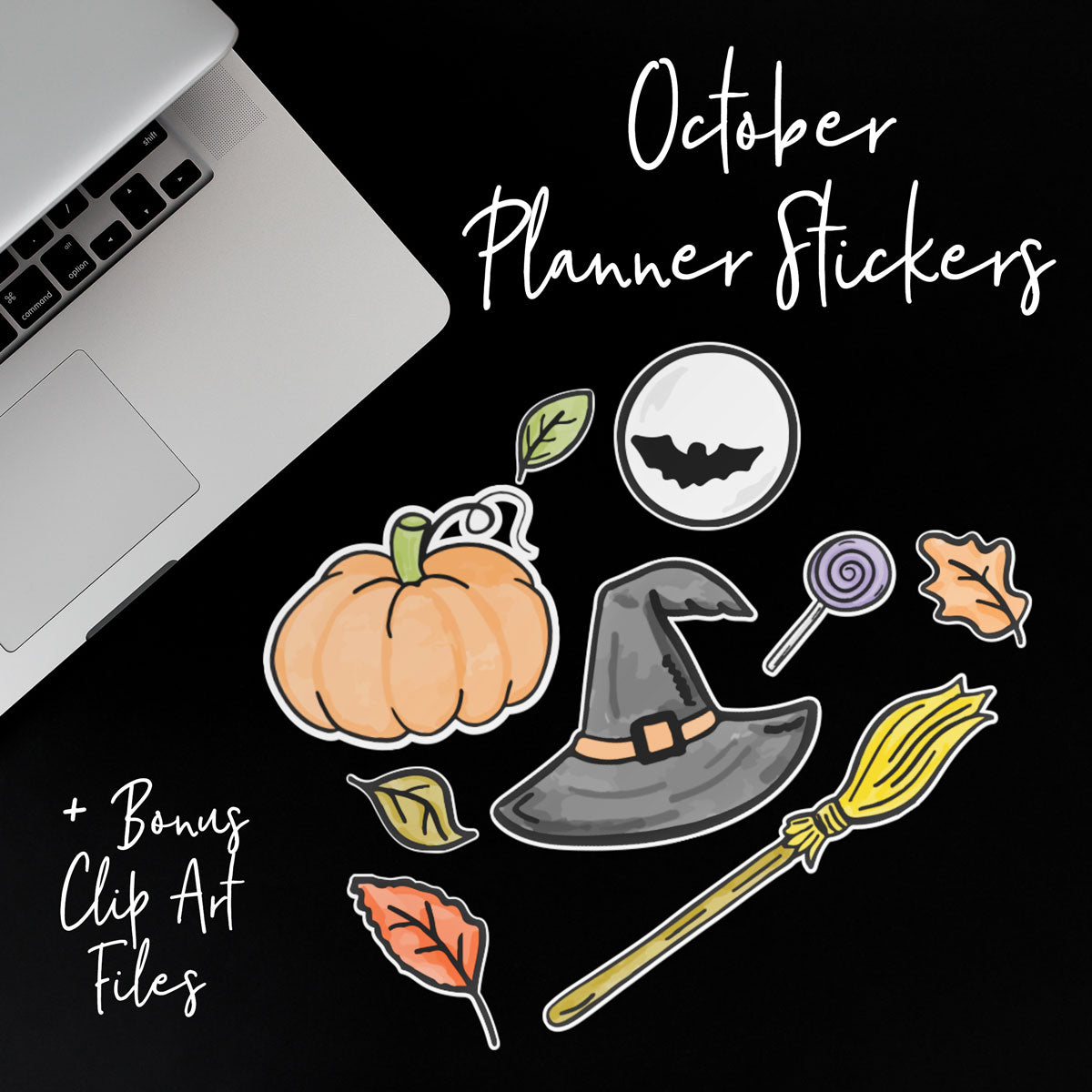 Monthly Freebie | October 2018 Halloween and Fall Themed Print and Cut Planner Stickers