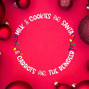 Freebie Friday | Santa Cookie Plate | SVG DXF PNG Cut Files
