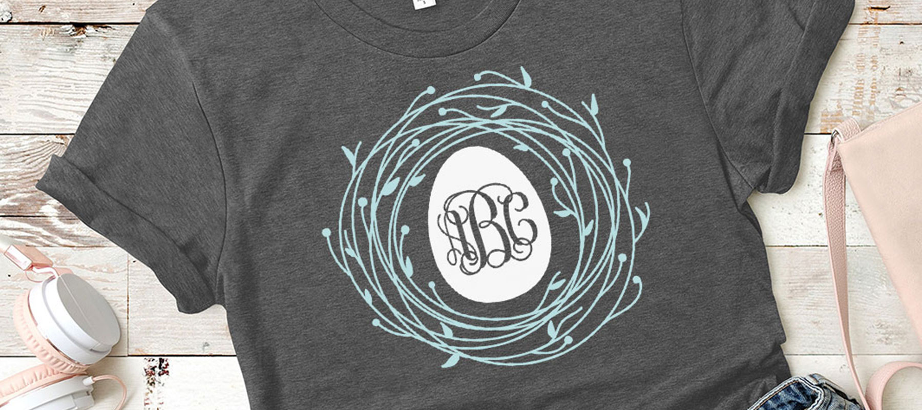 Monogram SVG DXF and PNG Cut Files