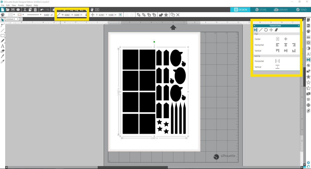 Importing and resizing an image in Silhouette Studio