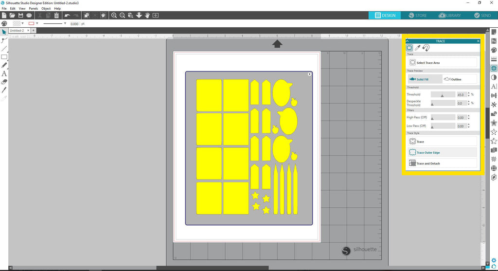 Creating cut lines for your Print and Cut in Silhouette Studio