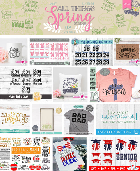 So Fontsy All Things Spring Bundle