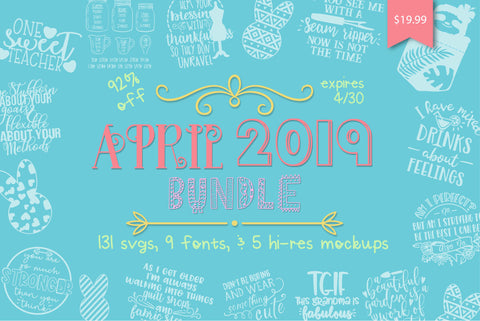 April 2019 Bundle | So Fontsy