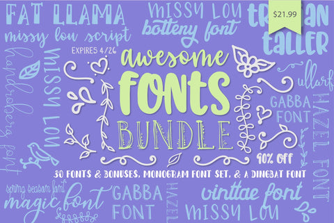 Awesome Font Bundles | So Fontsy
