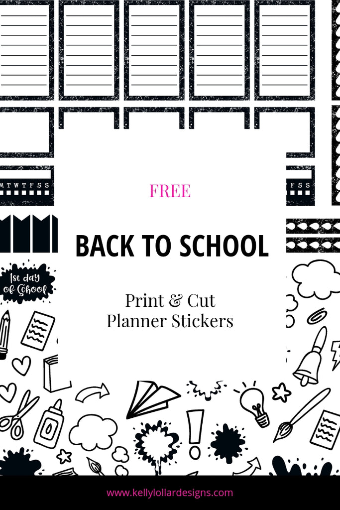 Back to School Planner Stickers | SVG PNG PDF Print and Cut Files