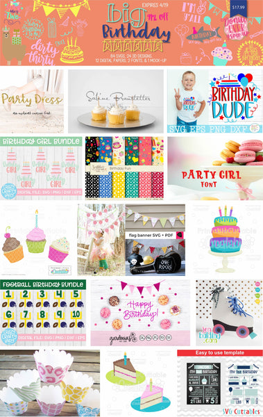 So Fontsy Big Birthday Bundle