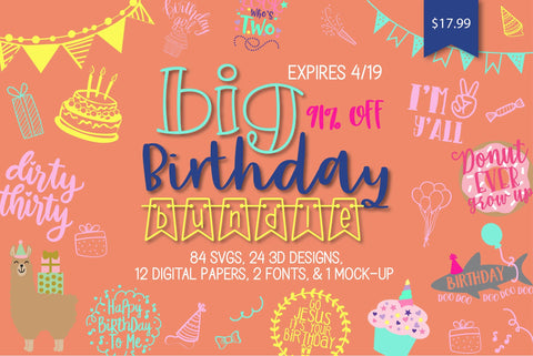 Big Birthday Bundle | So Fontsy