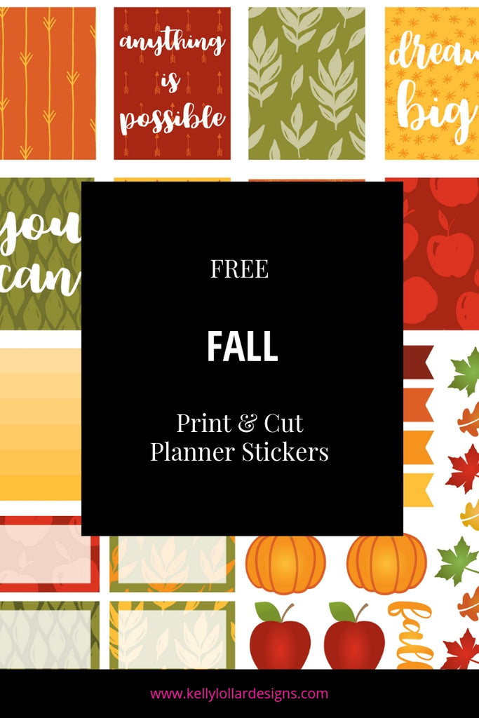 Print and Cut Fall Planner Sticker Sheet | SVG PNG PDF Files