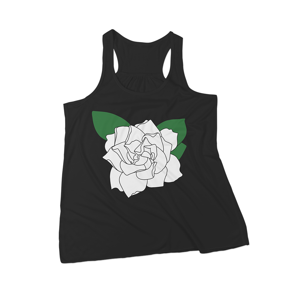 Gardenia SVG on a sample tank top - free for personal use | Kelly Lollar Designs