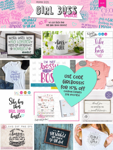 So Fontsy Girl Boss SVG Bundle