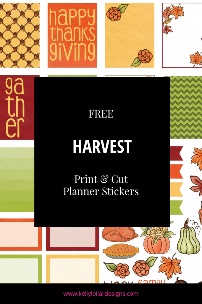 Harvest Planner Sticker Sheet | SVG PNG PDF Print and Cut Files