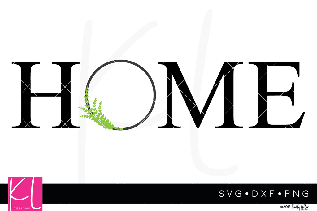 Modern Farmhouse Home svg cut file with wreath for the O