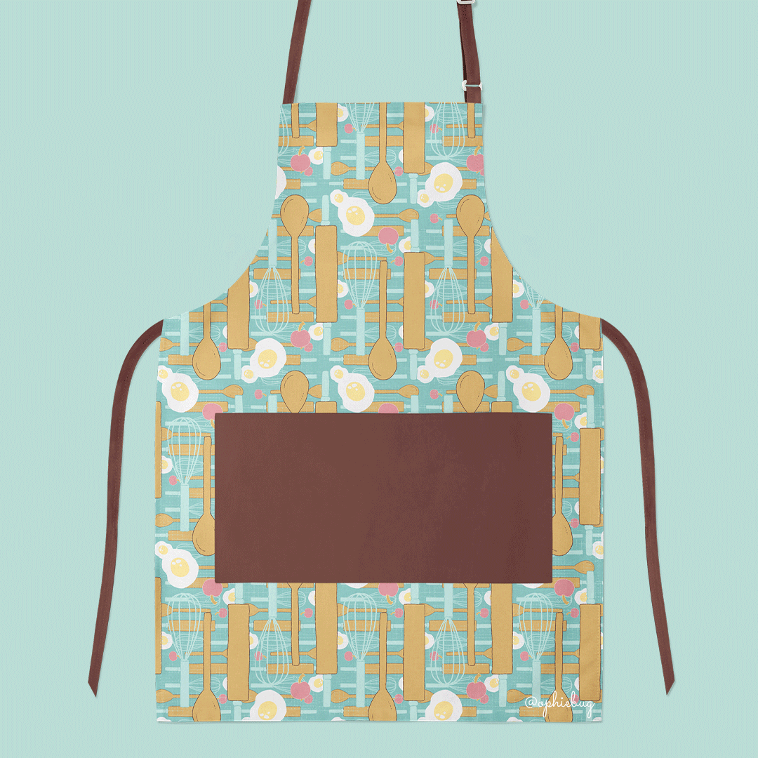 Let's Bake Pattern on an Apron by Ophiebug