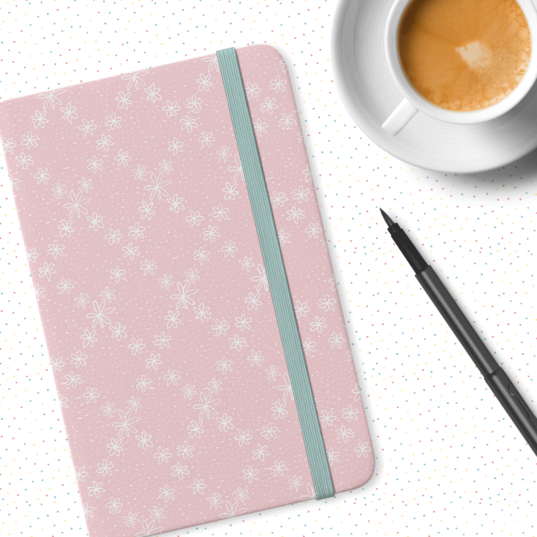 Daisy Chain Pattern on a Journal by Ophiebug