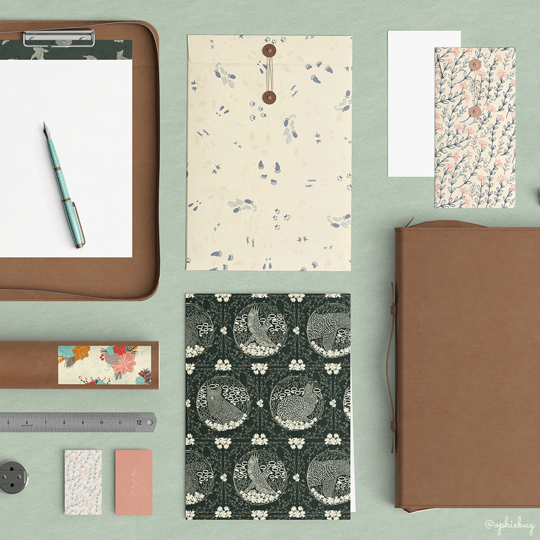 Multiple Patterns from the Pine Forest Friends Collection by Ophiebug
