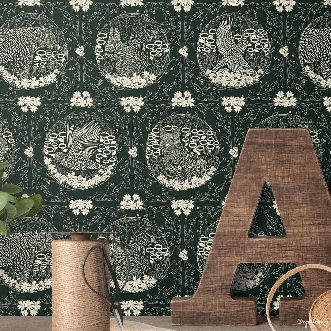 Playtime Pattern on Wallpaper by Ophiebug
