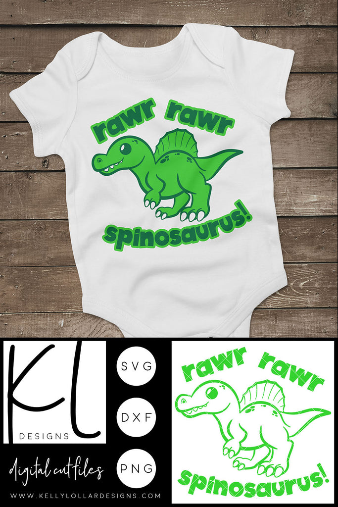 Freebie Friday | Rawr Rawr Spinosaurus svg cut file for little dinosaur lovers