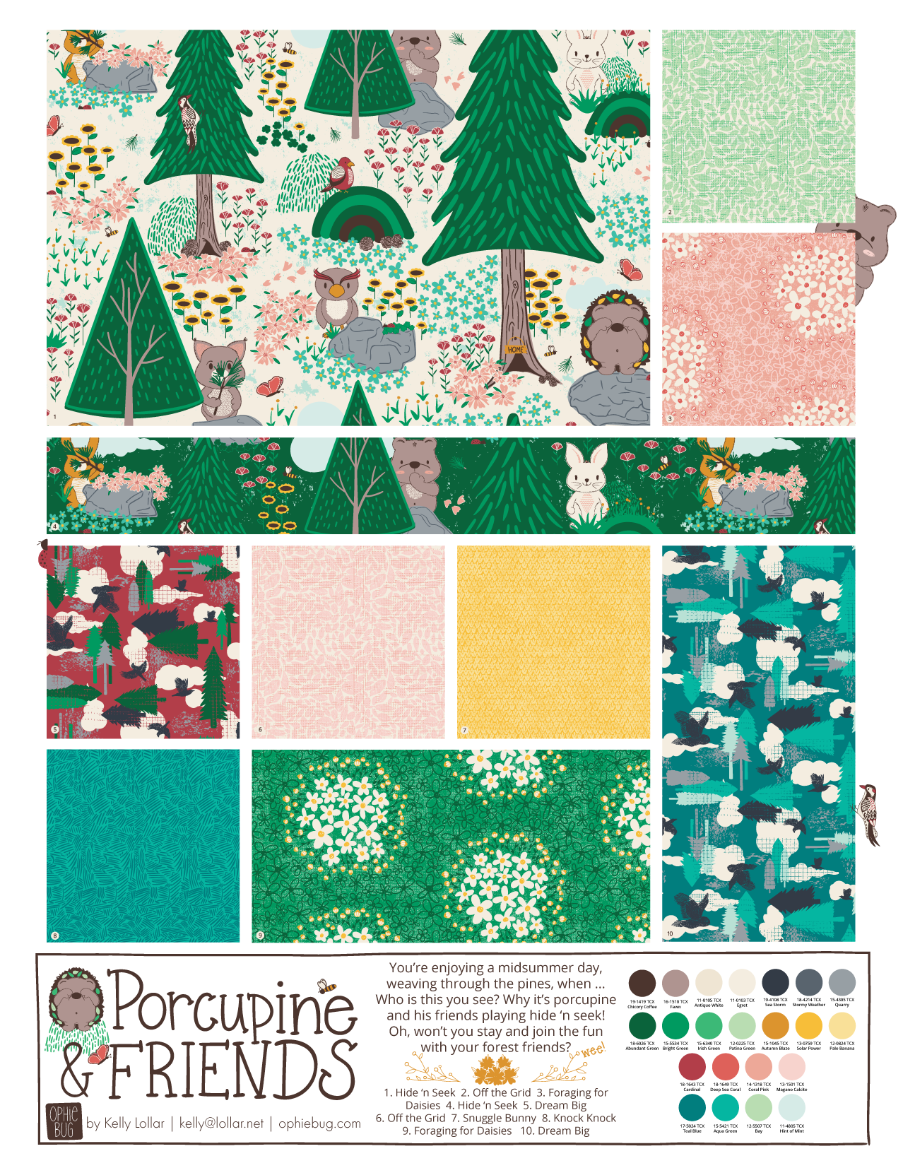 Porcupine and Friends Pattern Collection