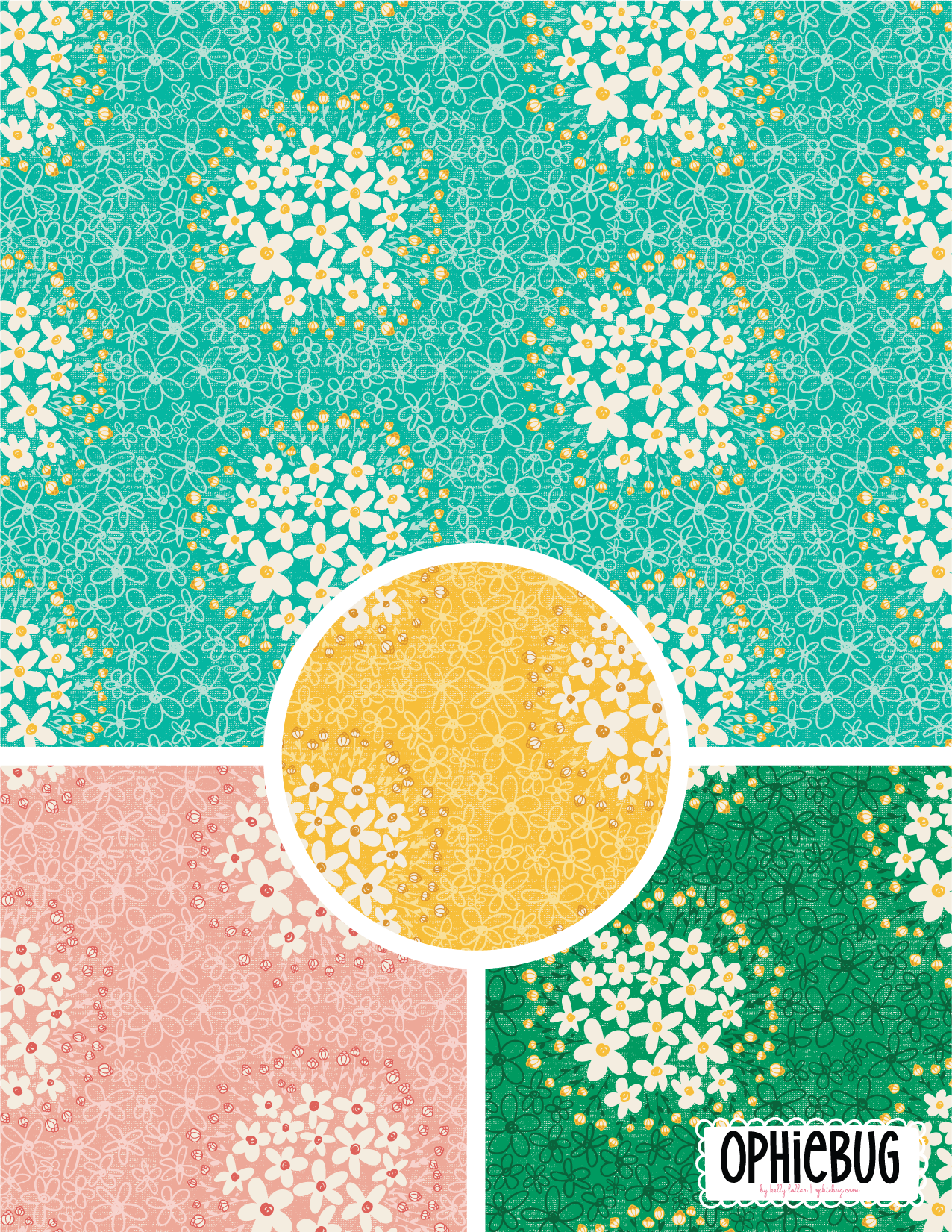 Foraging for Daisies Pattern