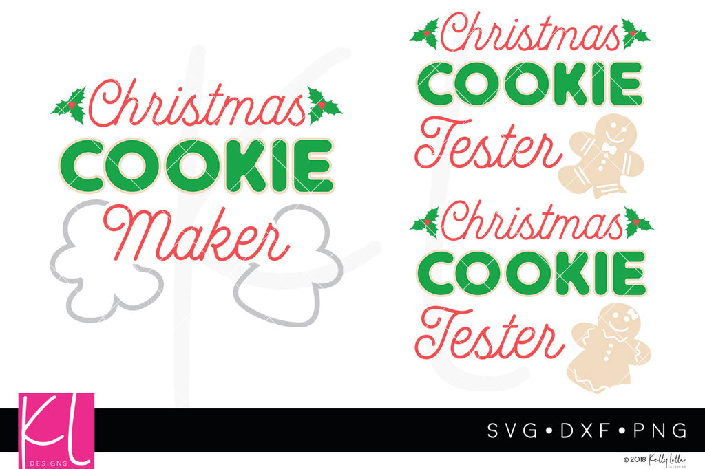 Christmas Cookie Maker and Taster svg cut file set