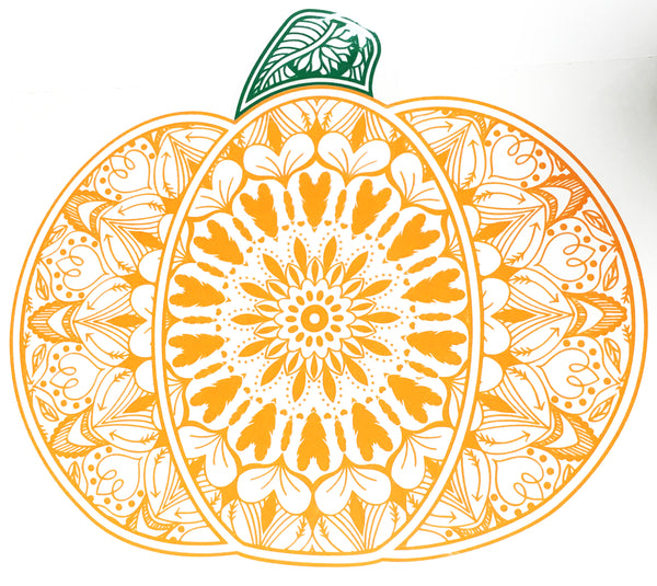 Mandala Pumpkin SVG cut in heat transfer vinyl