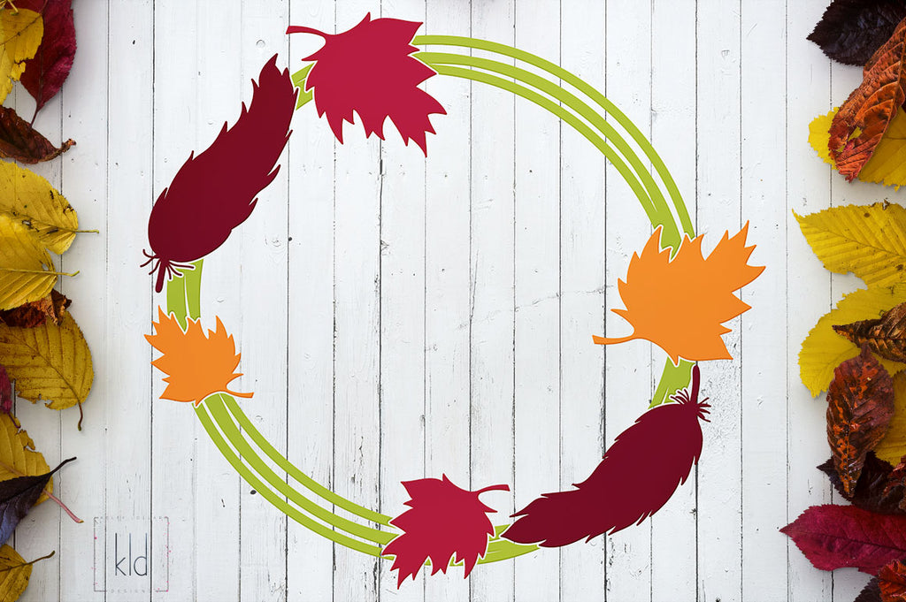 37+ Leaf Monogram Frame Cut File Fall Svg DXF