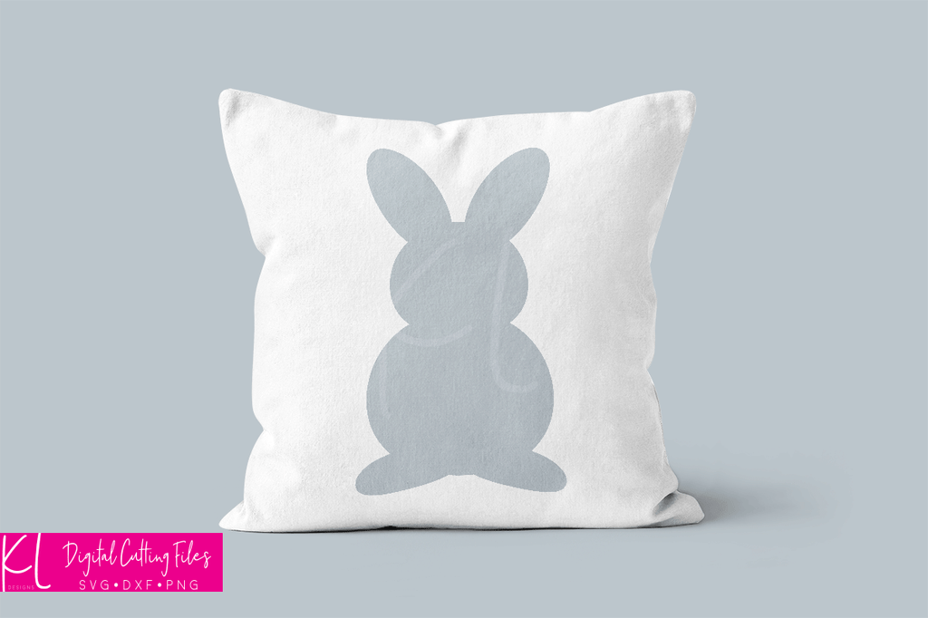 Easter throw pillow using the bunny silhouette from the Honey Bunny svg file