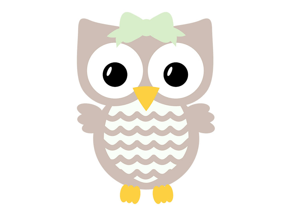Bow on feathered belly Owl svg | Kelly Lollar Designs