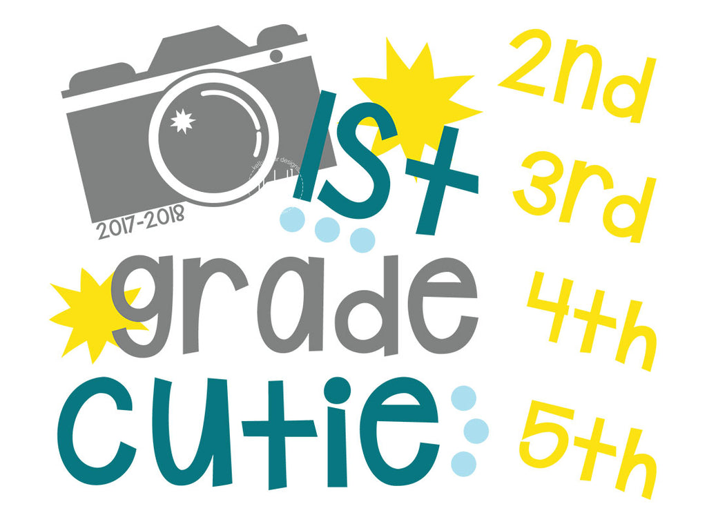 School Picture Day SVG Files - Grades 1 through 5 version - Free for Personal Use | Kelly Lollar Designs