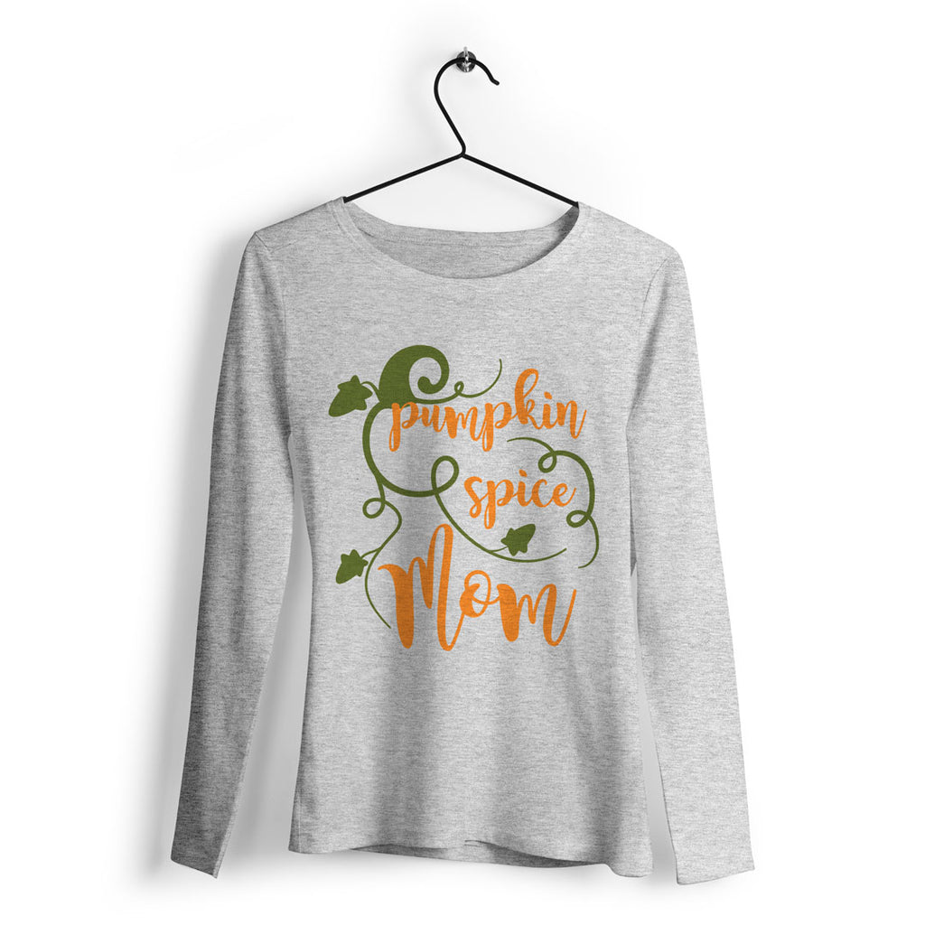 Pumpkin Spice Mom svg on a sample t-shirt | Kelly Lollar Designs