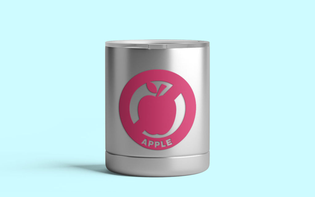 Apple Allergy Awareness Decal on a Child's Tumbler