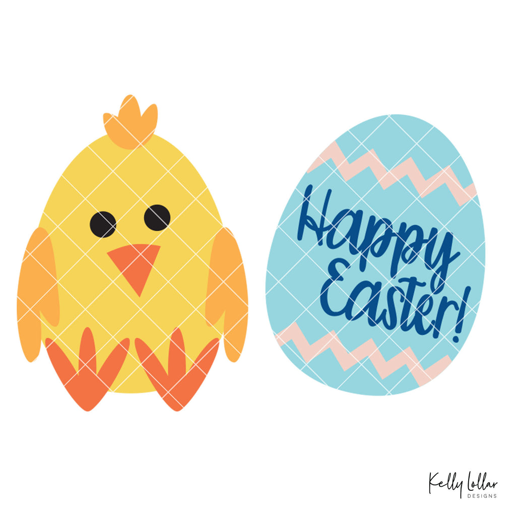 Easter Chicken and Egg Paper Craft | SVG DXF PNG Cut Files | Free for Commercial Use