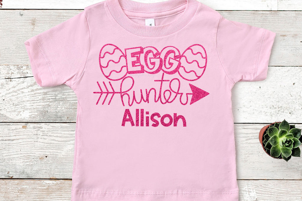Egg Hunter Easter Shirt Design | SVG DXF EPS PNG Cut Files | Free for Personal Use