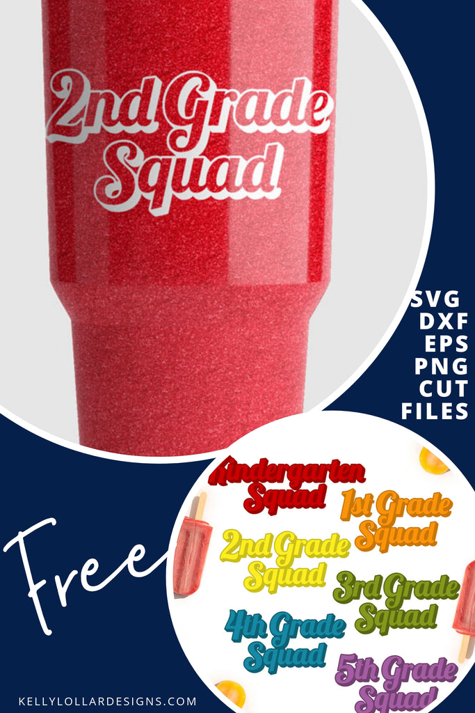 Elementary School Squad SVG DXF EPS PNG Cut Files | Free for Personal Use