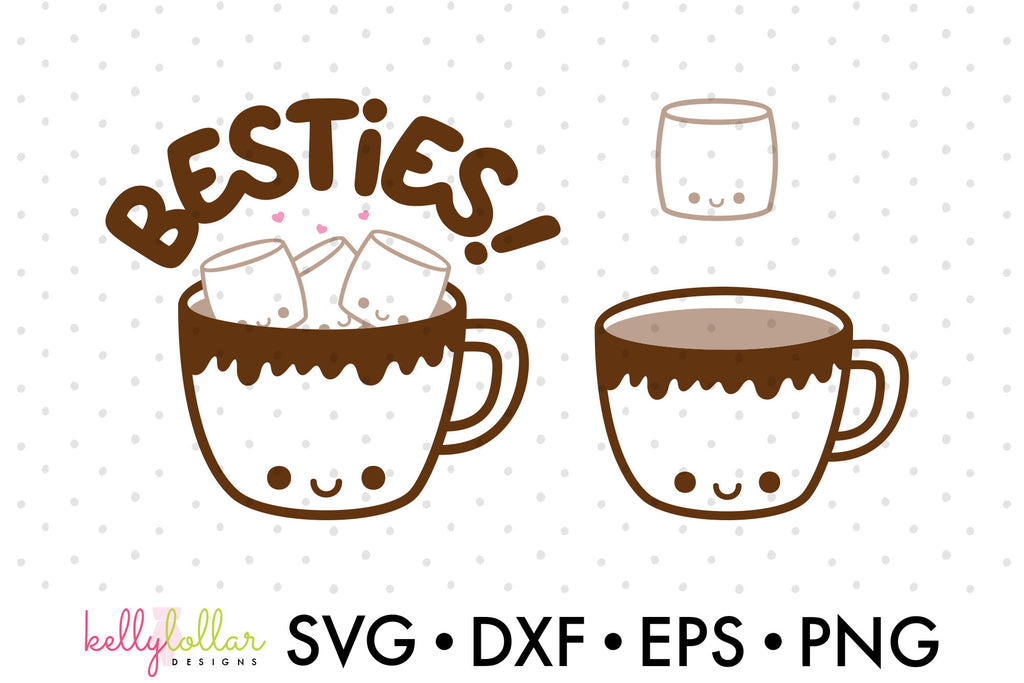 Freebie Friday | Cute Hot Cocoa and Marshmallow Characters SVG Cut Files