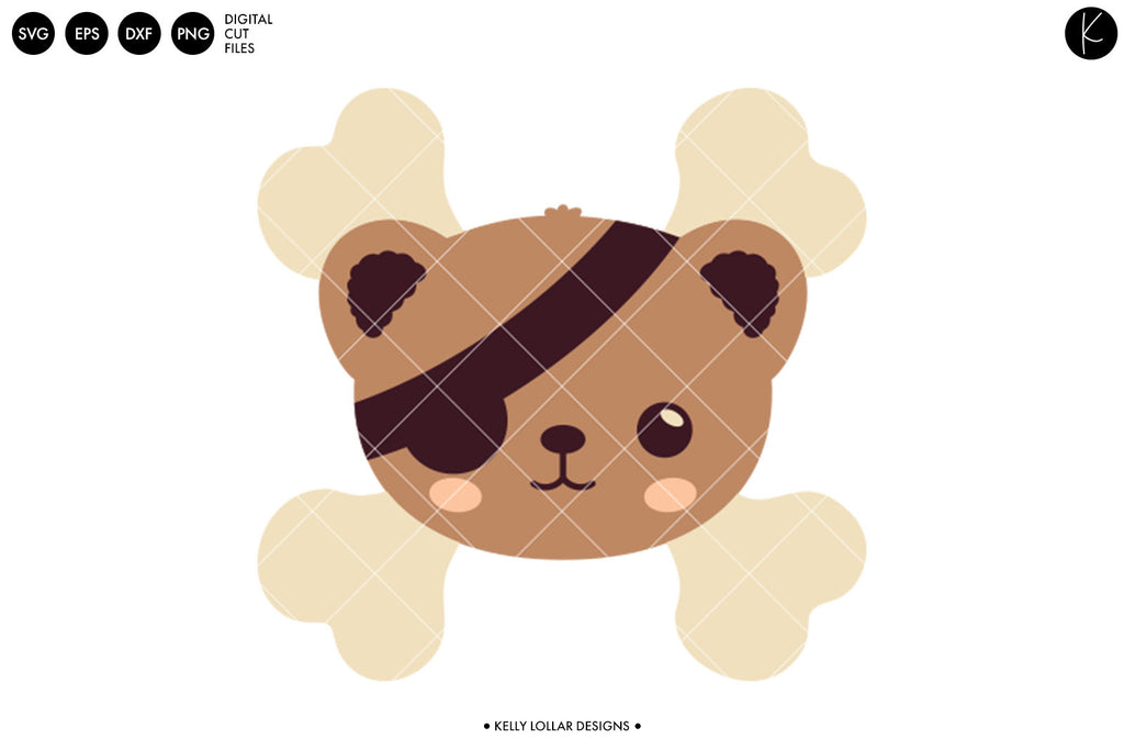 Talk Like a Pirate Bear SVG DXF EPS PNG Cut Files | Free for Personal Use