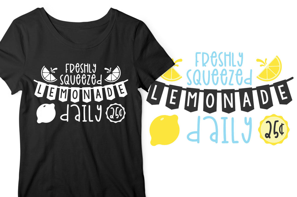 Lemonade Stand svg cut file for kid's summer shirts
