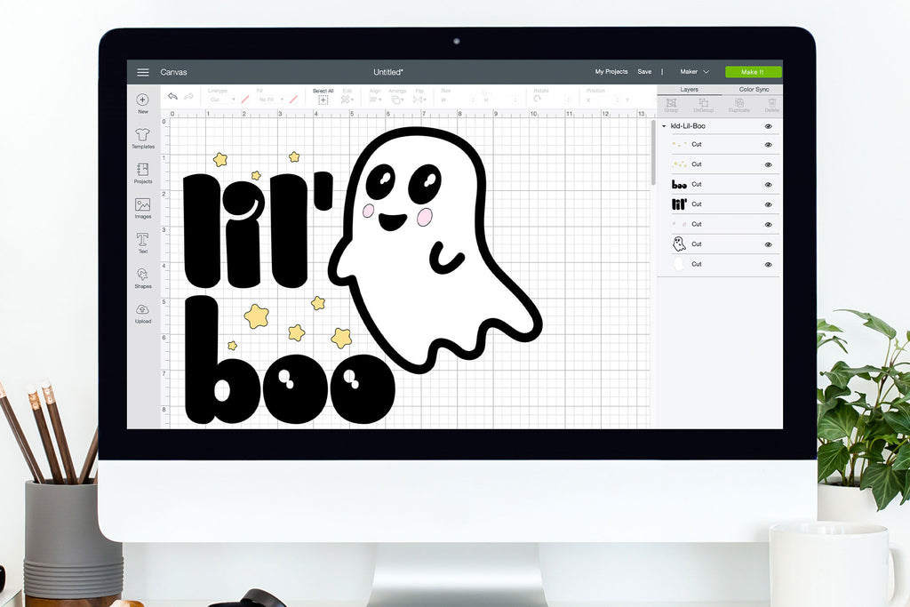 Lil' Boo Halloween Shirt Design | SVG DXF EPS PNG Cut Files | Free for Personal Use