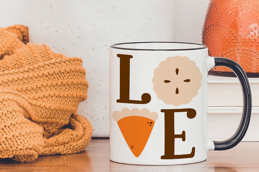 Sample Mug | Pie Love Thanksgiving SVG DXF EPS PNG Cut Files | Free for Personal Use