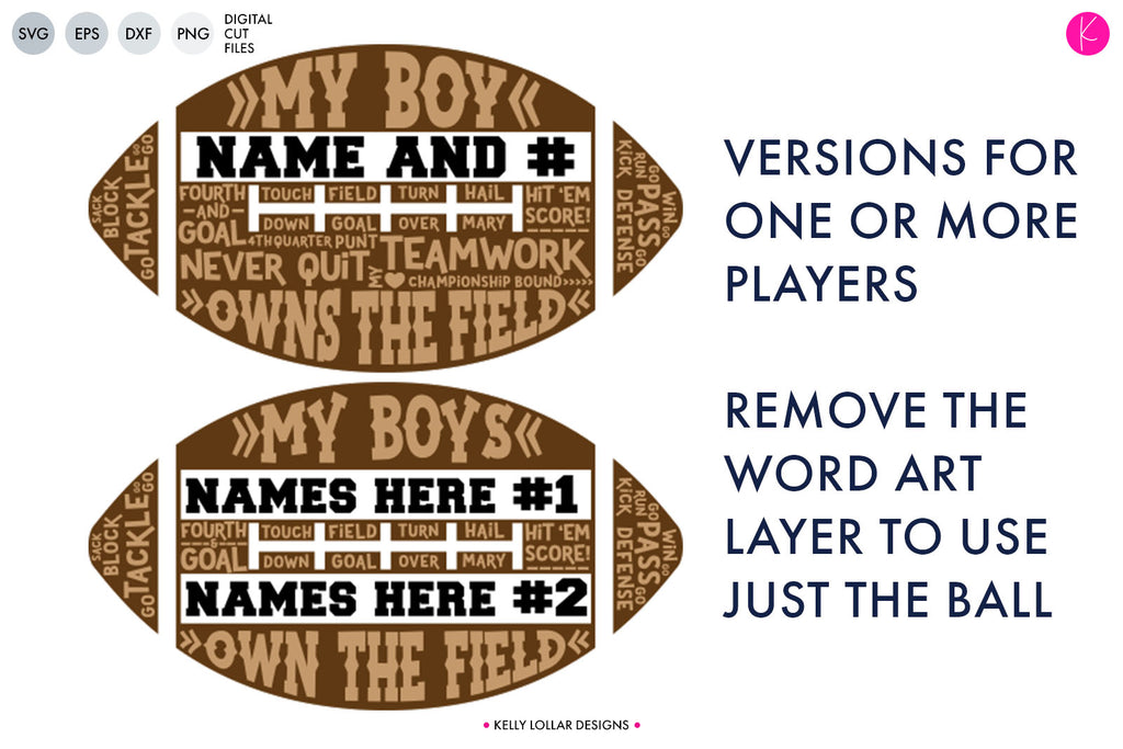 Freebie Friday | My Boys Parent & Grandparent Football Cut Files | SVG DXF EPS PNG