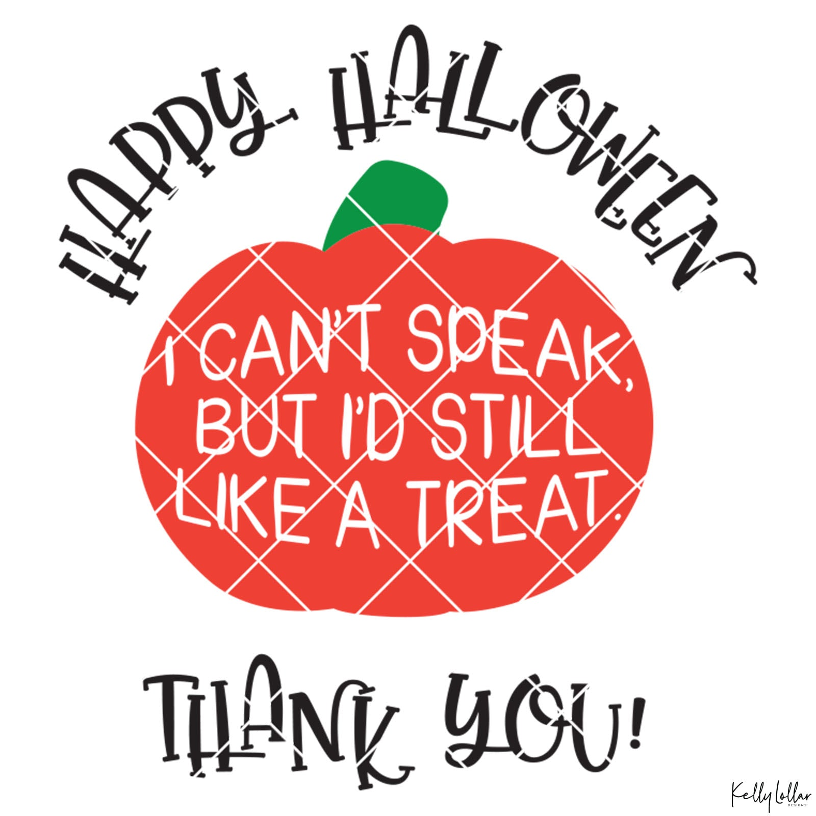 Non-Verbal Trick or Treat Bag Design with Pumpkin | SVG DXF PNG Cut Files | Free for Commercial Use