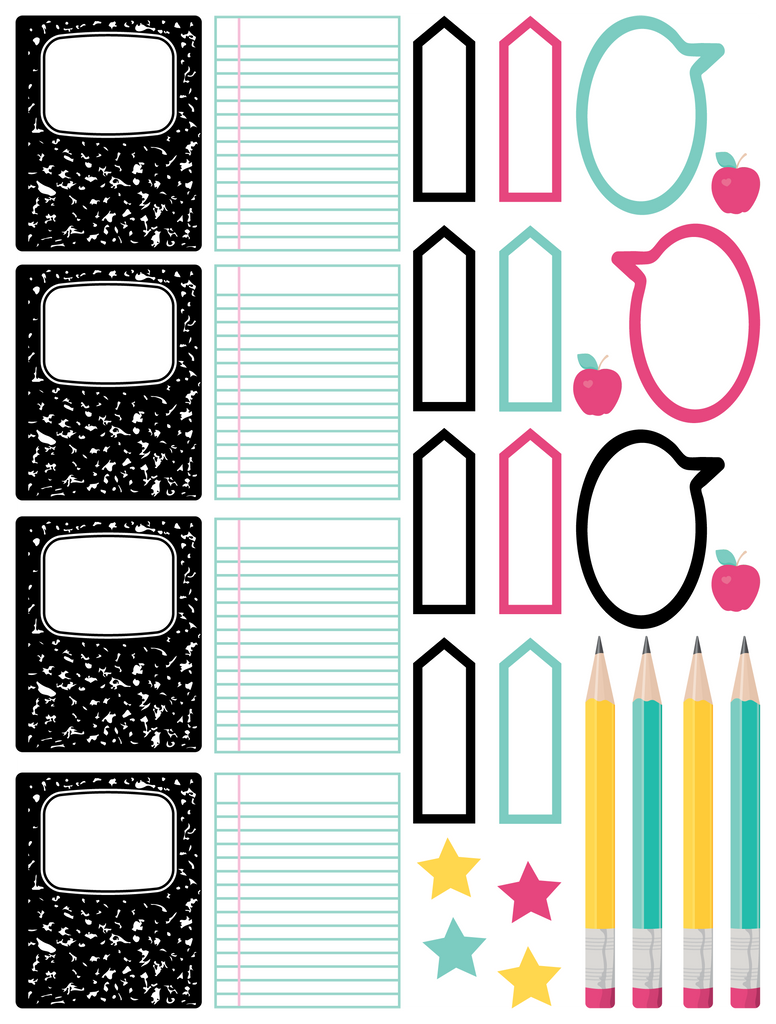 School Planner Stickers - Reminders and Embellishments