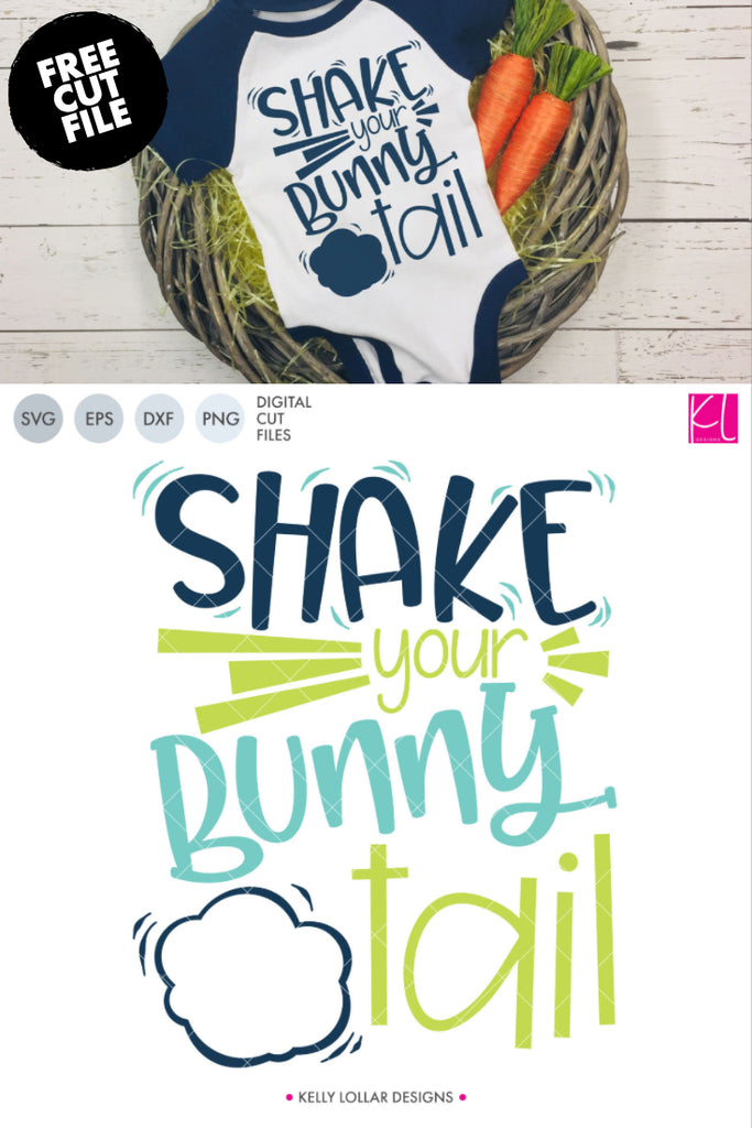 Freebie Friday | Shake Your Bunny Tail Cut File | SVG DXF EPS PNG