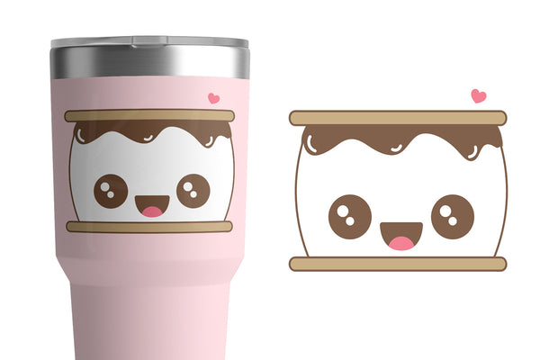 Kawaii S'more Character SVG DXF EPS PNG Cut Files | Free for Personal Use