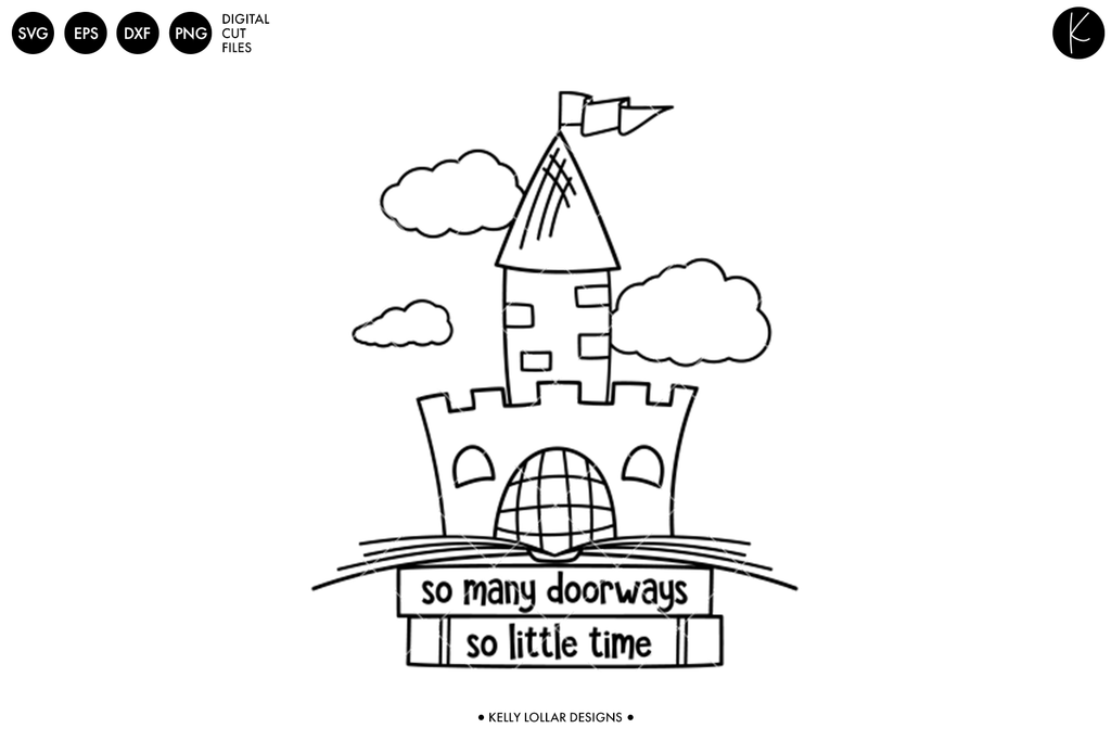 So Many Doorways Book Quote SVG DXF EPS PNG Cut Files | Free for Personal Use