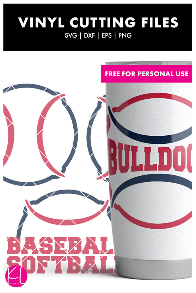 Team Baseball or Softball SVG DXF EPS PNG Cut Files | Free for Personal Use