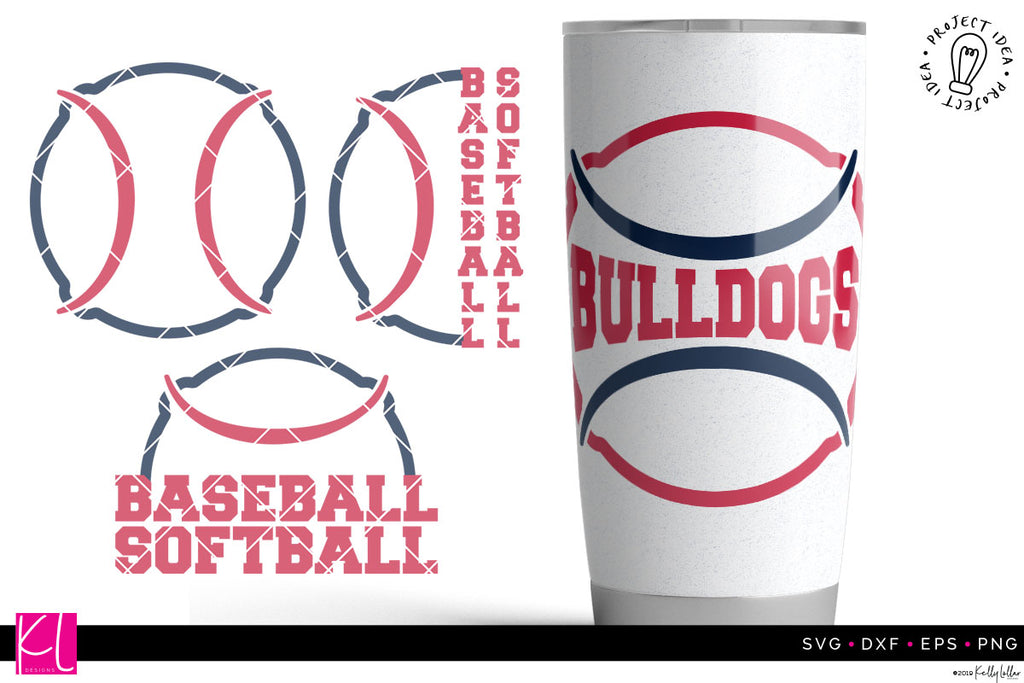 Team Baseball and Softball Cut File Set | SVG DXF EPS PNG
