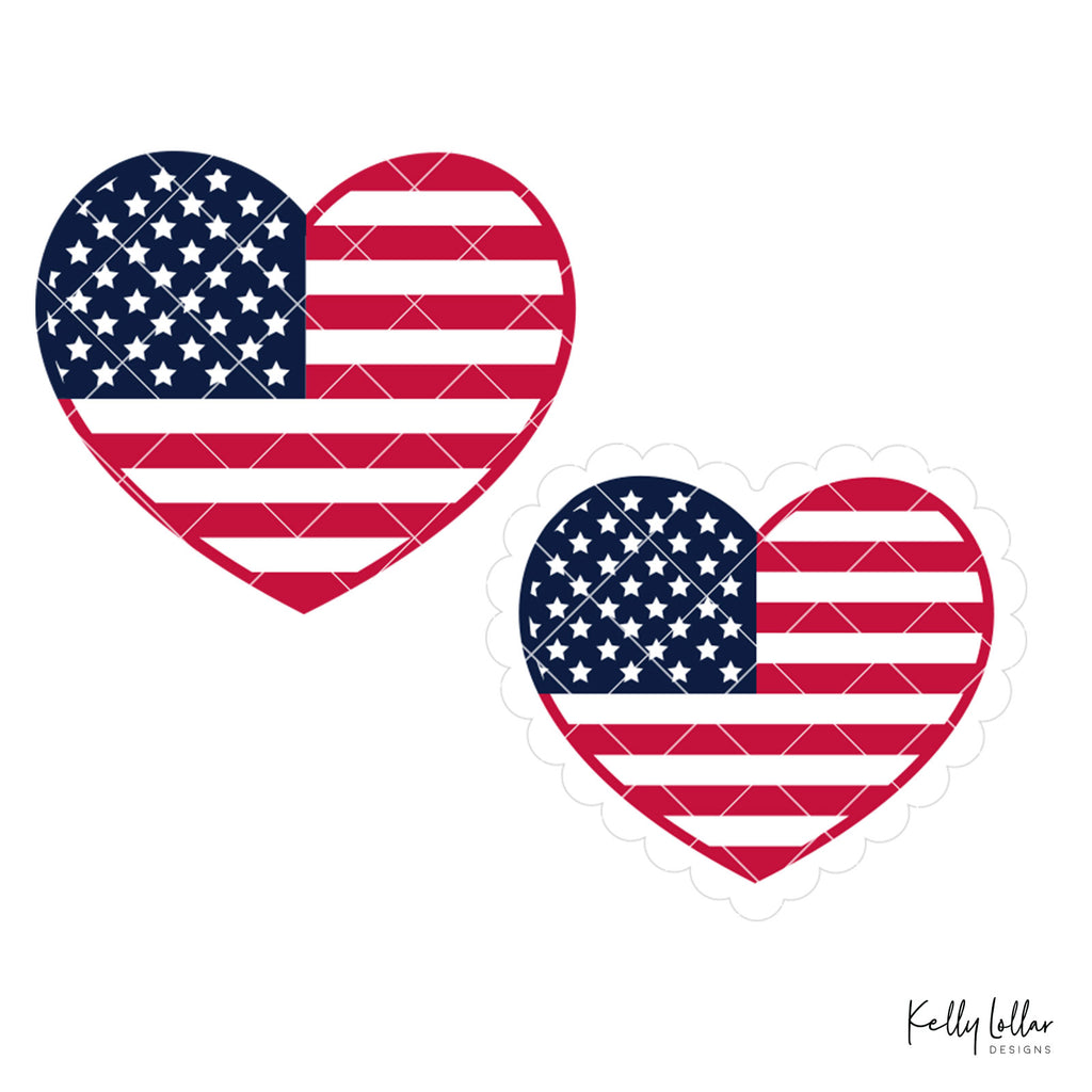 American Flag Hearts | SVG DXF PNG Cut Files | Free for Commercial Use